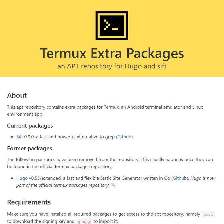 Termux Extra Repository